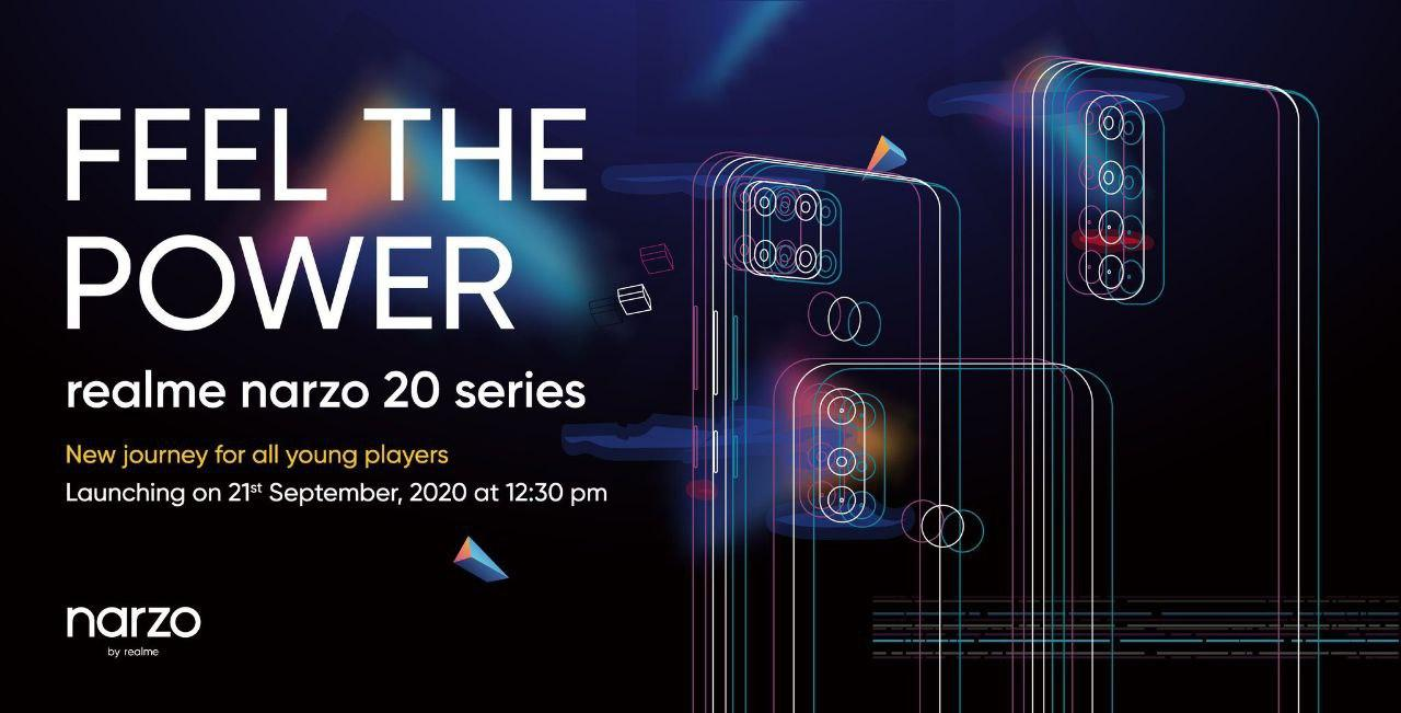 Realme to Launch Narzo 20 Series With Punch-Hole Display in India on September 21