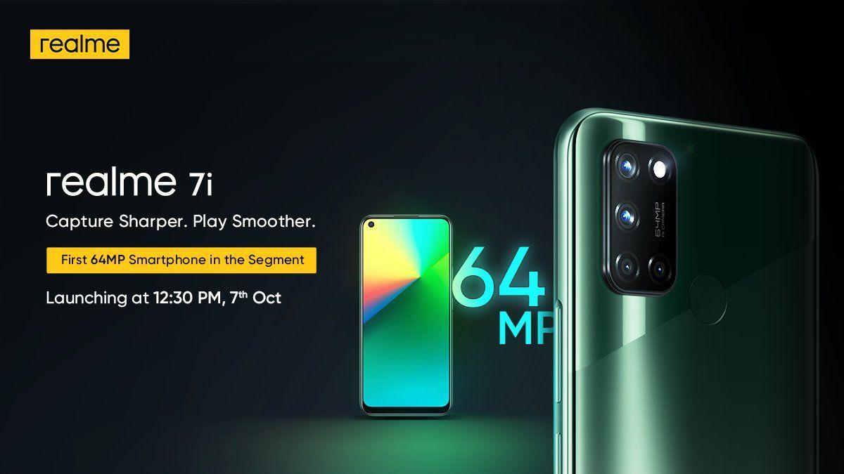 Realme 7i to Launch on October 7 in India